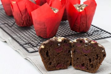 Drunken Chocolate Cherry Muffins