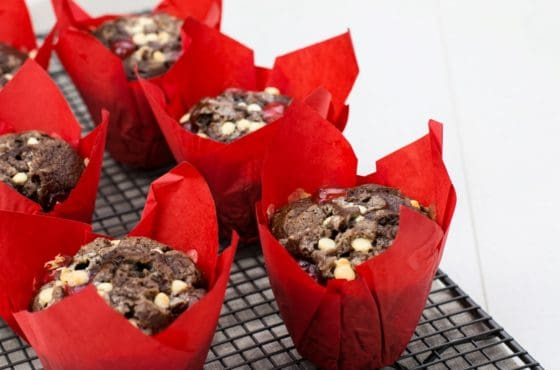 Chocolate and Cherry Muffin