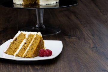 Coffee Raspberry Cake