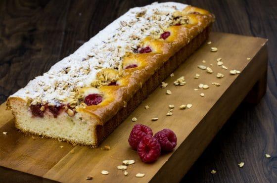 Raspberry Granola Slice