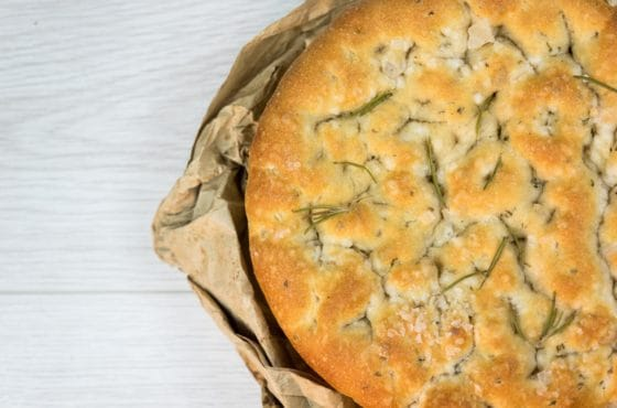 Rosemary And Rock Salt Focaccia