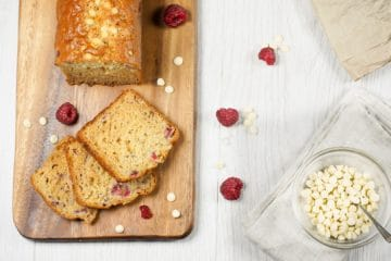 Raspberry and White Chocolate Banana Cake