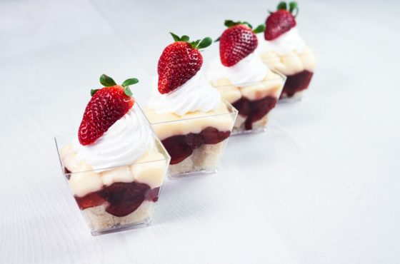 Miniature Strawberry Trifles
