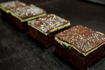 Mint Brownie Slice