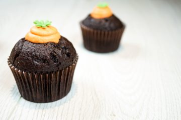 Chocolate Easter Carrot Muffins