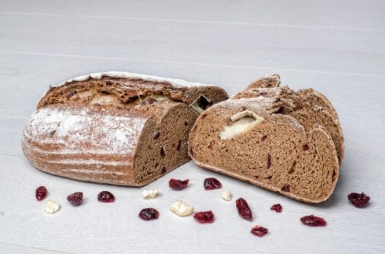 Brie and Cranberry Rye Bread