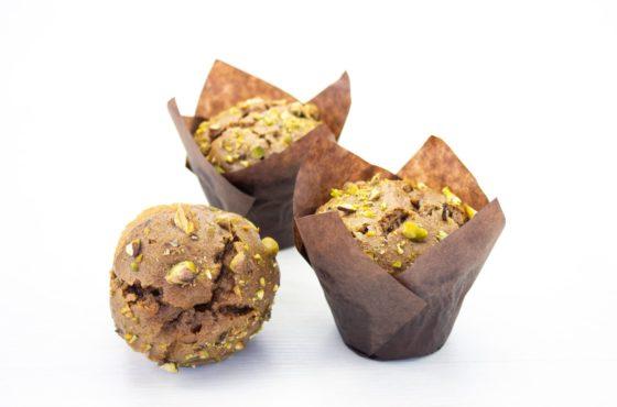 Vegan Chocolate and Pistachio Muffin