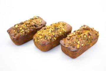 Vegan Pistachio Miniature Loaf Cake
