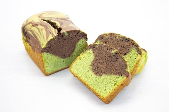 Vegan Matcha and Chocolate Marble Loaf Cake