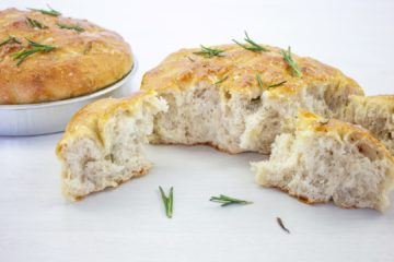 Rosemary and Rock Salt Focaccia with Spelt Sourdough