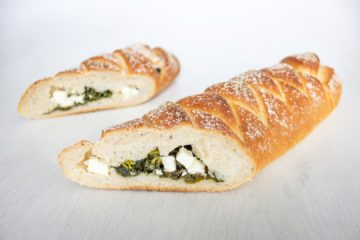 Spinach and Feta Plait with Sourdough
