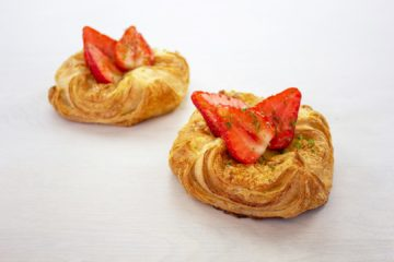 Strawberry, Lime and Vanilla Sourdough Danish