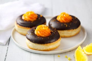 Chocolate Orange Vegan Doughnut