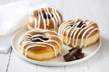 Chocolate Toffee Vegan Doughnut