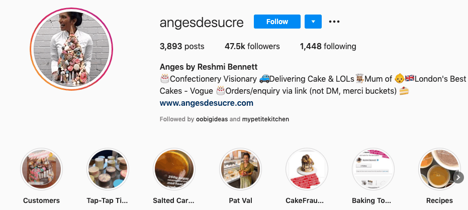 anges de sucre instagram highlight reel
