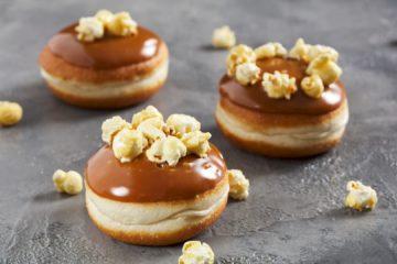 Caramel Popcorn Doughnut – Vegan