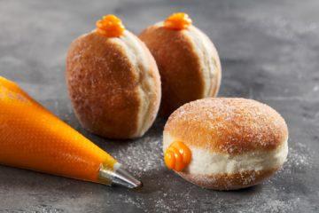 Orange Cream Doughnut – Vegan